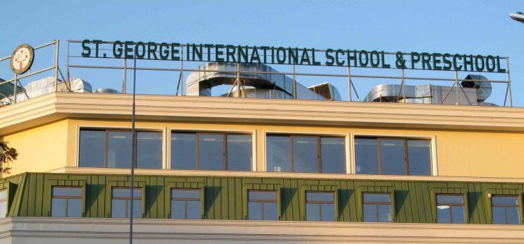 Рекламен надпис за училище St. George International School & Preschool