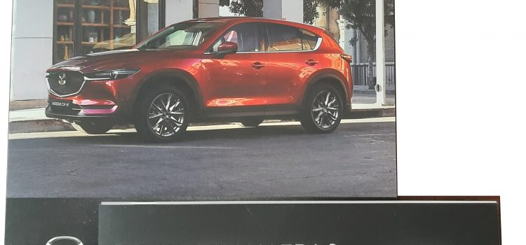 Дипляни на новия модел на Мазда , MAZDA-X5 Driving Matters Модел 2019г. и дипляна с всички модели на Новата MAZDA 3 Drive together