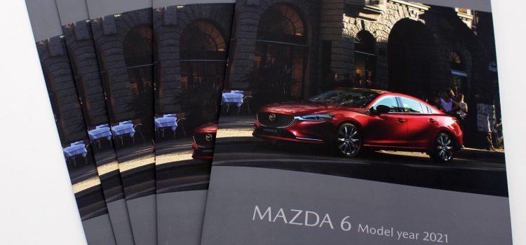 Рекламна брошура на Mazda 6 model year 2021